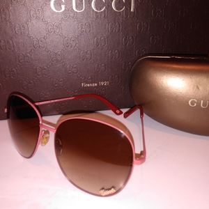 Gucci Script Metal Framed Sunglasses